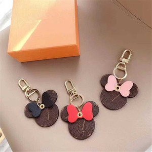 Moda Donna Portachiavi Big Ear Ear Portachiavi Cute PU Catena chiave Borsa Charm Boutique Car Key Holder Design Design Portachiavi Anello Accessori 8 * 8 cm 6 colori