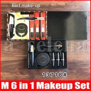 M Cerca In A Box 6 in 1 Set trucco opaco rossetto eyeliner liquido nero freddo mascara cuscino d'aria
