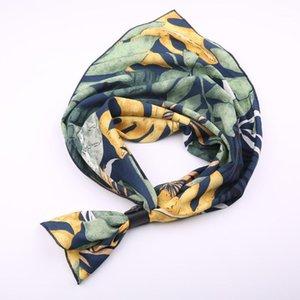 Линьбайвей мода шеи шарф для мужского костюма полиэстер большой карманный квадрат цветочные шеи шарф женские пользовательские логотип1