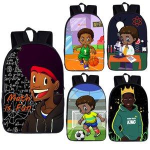 Afro Brown Science Boy Print Рюкзак Детские Школьные Сумки Для Подростковой Африки Мальчики Daypack Студент Ноутбук Рюкзаки Backpacks Book LJ200917