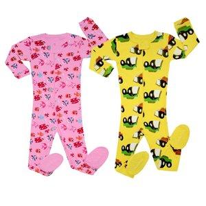 Brand New Baby Infant Pajamas Sets Kids Cotton Footed Pajamas for 0-5T Kids Cotton Sleepwear Footed Pyjamas Boys Nightwear PJS LJ201023