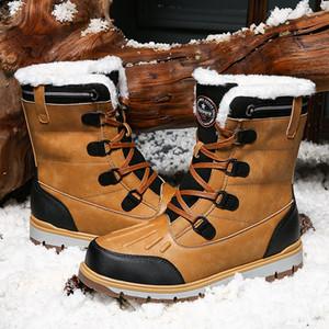 Nidengbao Invierno Nuevos Hombres Botas de nieve de alta calidad al aire libre Casual Alto Top Deportes Caliente de algodón Calzado Masculino