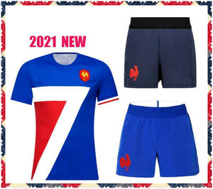 2020 Francia Rugby Jerseys nazionale Team National Rugby Shorts League Jersey Francia Maillot Camiseta Maglia Tops S-5XL TRIKOT KIT CAMISAS Tops