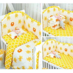 2020 New baby crib bedding set cotton bed surrounding hot-selling baby bedding sets bed surrounding 4 pieces of color bed surrounding