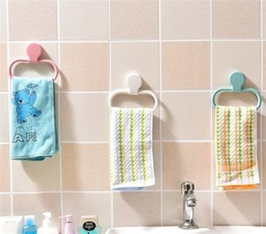 Annular Viscose Towel Pylons Household No Trace Nail Free Waterproof Towels Hanging Rack Bathroom Supplies 4 Color Option Hot Sale 2 7xr J2