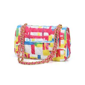 Lady fashion fresh one shoulder bag lively color cross body bag collocation handbag cool lady leather Bags