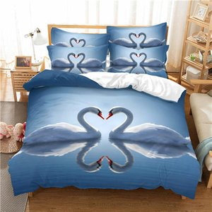 Hot sale Animal 3d Printing Bedding Set Duvet Cover with Pillowcases Bedding Cover 2 3pcs