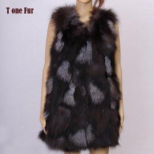 2019 Nueva llegada Chaleco de piel real Mujer Natural Chaleco de invierno Moda Tonfur Marca Envío gratis KFP5771