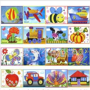 10pcs lot Stylish design mosaic sticker 16 style fun EVA stickers children's educational toy Z1201