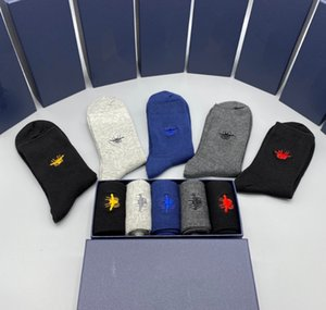 Top designers cotton socks five pairs of a box, white, black, dark series, bright color, sparkling. FF pictures