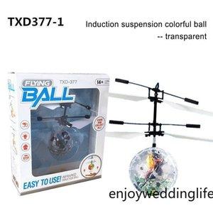 Flying Copter Ball Aircraft Helicopter LED Lampeggiante Light Up Giocattoli Induzione Sensore giocattolo elettrico per bambini Bambini Natale con pacchetto