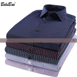 BOLUBAO Men Long Sleeve Shirt Tops Spring Autumn New Business Brand Men's Slim Fit Wild Shirt Striped Casual Shirts Male