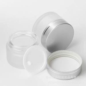 Bouteilles portables Cosmétiques dépolis Crème Visage Vide Cream Pratique Femme Homme Flasks Verre Jar Fournitures de la haute qualité 1 15LJ K2