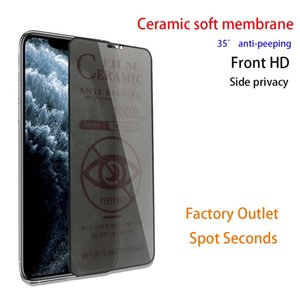 Ceramics Screen Protector Soft Film Anti-peeping 9H Full Cover for iPhone 12 11 pro max XS XR X 8 Plus Not Tempered Glass