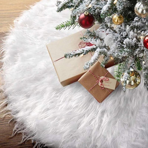 1pc White Plush Christmas Tree Fur Carpet Merry Christmas Decor for Home Natal Tree Skirts New Year Decoration Navidad Gifts