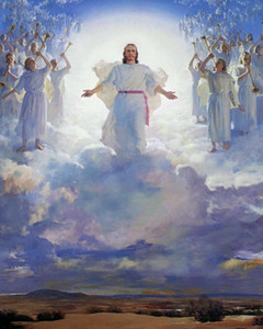 The SECOND COMING CHRIST Catholic Christian Home Decoration Oil Painting On Canvas Wall Art Canvas Pictures For Wall Decor 201126