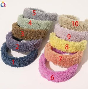 Fashion Teddy Style Purt Fur Bandand Capelli fascia per le donne Sweet Candy Color Hair Hoop Cashmere Wide Hairbands Accessori per capelli