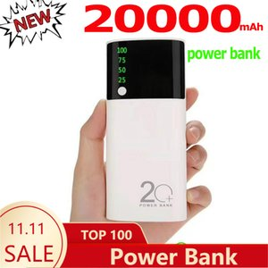 Portable Bank 20000mah Outdoor Emergency Mobile LED Digital Screen Smart Phone Fast Charger Power Supply