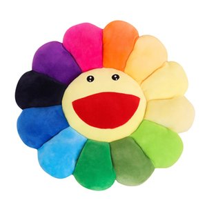 Plush Sun Flowers Pillow Soft Toy Stuffed Toy Plush Mats Meditation Cushion Floor Cushions for Kids