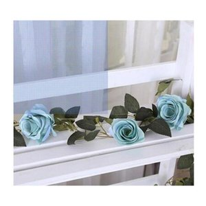 210cm Fake Big Silk Roses Ivy Vine Artificial Flowers With Leaves Home Wedding Party Hanging Decoration Garl jllYxY yummy_shop