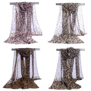 Leopard Print Print Printing Silk Scarf U в форме женщин шифон мода длинные шарвы осенью новый шаблон 3 7pl J2