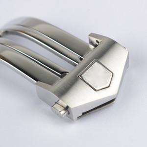 16 18 20mm Watch Band Askı Toka Dağıtım Toka Gümüş Yüksek Kaliteli Paslanmaz Çelik Hediye Etiketi