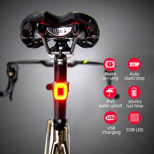 Xlite 100 CubeLite II Bicycle taillights Intelligent Sensor Brake Bike Flashlight IPx5 Waterproof Cycling Road MTB Rear Light 201119