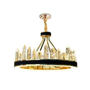 Kostenloser Versand Mode Moderne LED Kronleuchter Wohnzimmer Hotel Luxus Edelstahl Eisen Kristall Anhänger Lichter