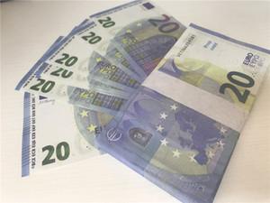 2021 Cross-Bordure Selling Movie Moderne Euro 20 Copier Papier Banknote PROP ARGENT EUR 100 PCS / PACK 020
