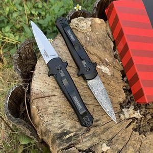 Kershaw 7125 출시 12 미니 폴딩 나이프 다마스커스 블레이드 알루미늄 합금 핸들 야외 캠프 사냥 주머니 과일 나이프 EDC 도구