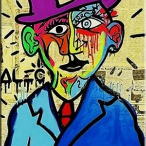Alec Monopoly Banksy Oil Painting On Canvas Street Art Salvador Dali Home Decor Handpainted &HD Print 191013