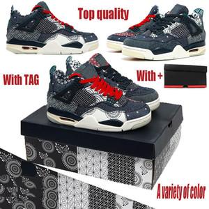2020 Nuovo 4 Scarpe da basket uomo Jumpman Sashiko Blue White Sneakers IV Black Grigio Leale Allenatori Blu CW0898-400