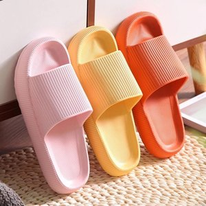Universal Quick-drying Thickened Non-slip Sandals Thick Sole House Slippers Bathroom Footwear Summer Beach Sandal Slipper