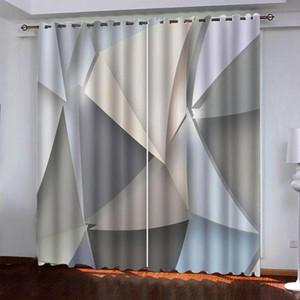 Tende 3D Tende da finestra per soggiorno Camera da letto Bedroom Personalizzato Dimensione Geometria Geometria Tenda Decorazione di alta qualità
