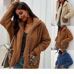 Designer Original fur clothes Femme Autumn Winter Thick Womens fashion Sweater top Wrap wool Cardigan Shawl coat jacket warm Leopard casual