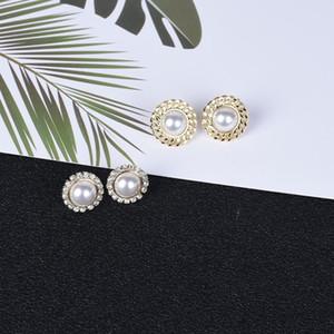 Fashion earrings crystal earrings for women pearl for women gold plated