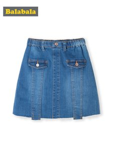 Balabala Los niños usan niñas Falda corta 2019 nueva falda de verano Big Girl Fashion Denim Falda Tide Y200704
