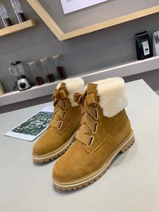 Top Snow Boots Women Boots Short Mini Classic Knee Tall Winter Boots progettista Bailey Bow Ankle Bowtie Black Grey Shoes SIZE 35-40