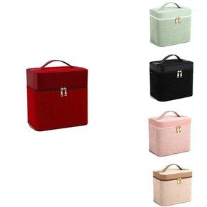 Casmetic Case Maquillage Sac de voyage Suitcase Simple Open Cosmetic Case avec boîte de maquillage1