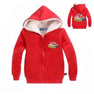 Крылья 2-8years Супер Одежда Мальчик Дети Шуба зима Puddle Jumper детский зимний комбинезон Шинель Novatx малышей куртка Ziper