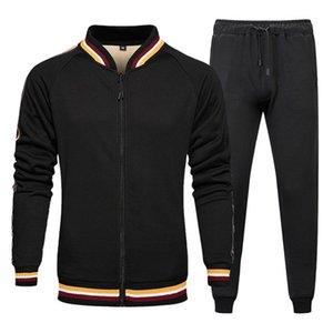 Men Sets Fleece Warm Jacket And Sweatpants 2 Pieces Tracksuit Winter Clothing Fashion Casual Sportswear Plus Size
