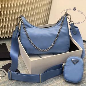 Multi pochette Nylon re edition 2005 small blue Pra chain Shoulder CrossBody Hobo Bag Handbag borse di lusso di design borse famousbags