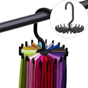 Organizador de la percha de la corbata giratoria Organizador del armario colgante de almacenamiento de la bufanda del bastidor de la perilla de la perilla de la barra de almacenamiento del bastidor de la perilla