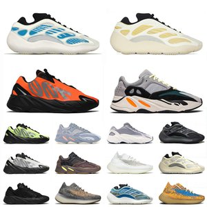 yeezy yeezys boost 380 700 v2 v3 700 mnvn 2021 New Kyanite Kanye 700 Sport Runners Shoes Safflower Orange Azareth uomo donna Carbon Blue Oat West Mist Scarpe da ginnastica Sneakers
