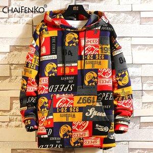 CHAIFENKO Fashion Brand Hip Hop Men Hoodies 2020 Spring Autumn Casual Printing Hoodies Sweatshirts Men Oversized loose Hoodies Y1112