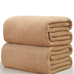 Soft Warm Flannel Fleece Blankets Solid Bedspread Plush Winter Summer Throw Blanket for Bed Sofa 5 NAPQY