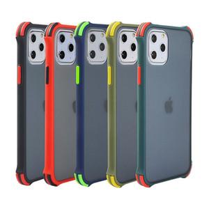 Transluzent-Silikon-Telefon-Hülle für iPhone 12 11 PRO MAX XS XS 8 7 6 Plus S20 Skin Stoßdichte Abdeckung