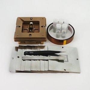 80mm 90mm Evrensel BGA Reballing Kiti Fikstürü JIG 170 ADET BGA Şablonlar Laptop Için 250k Lehim Topları ESD Cımbız Fırça