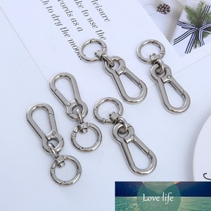 New 1 Piece Black Rotary Lobster Clip Clip Hook Keychain Metal Label Quick Keychain Split Key Ring Hot Birthday Gift