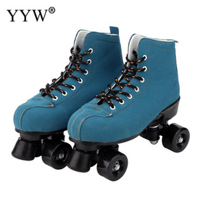 Roller Skates Girls Women Kids Roller Skates Skating Shoes Sliding Quad Sneakers 4 Wheels 2 Row Line Outdoor Training Gym Sports